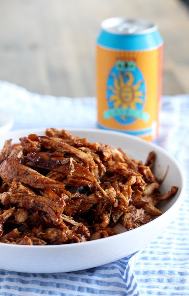 Barbecue Pulled Chicken ll Serve on a whole wheat bun or just on its own! ll www.littlechefbigappetite.com