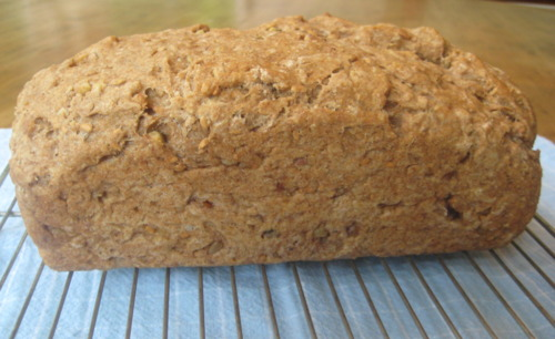 100% Whole Wheat Bread with Nuts and Seeds
