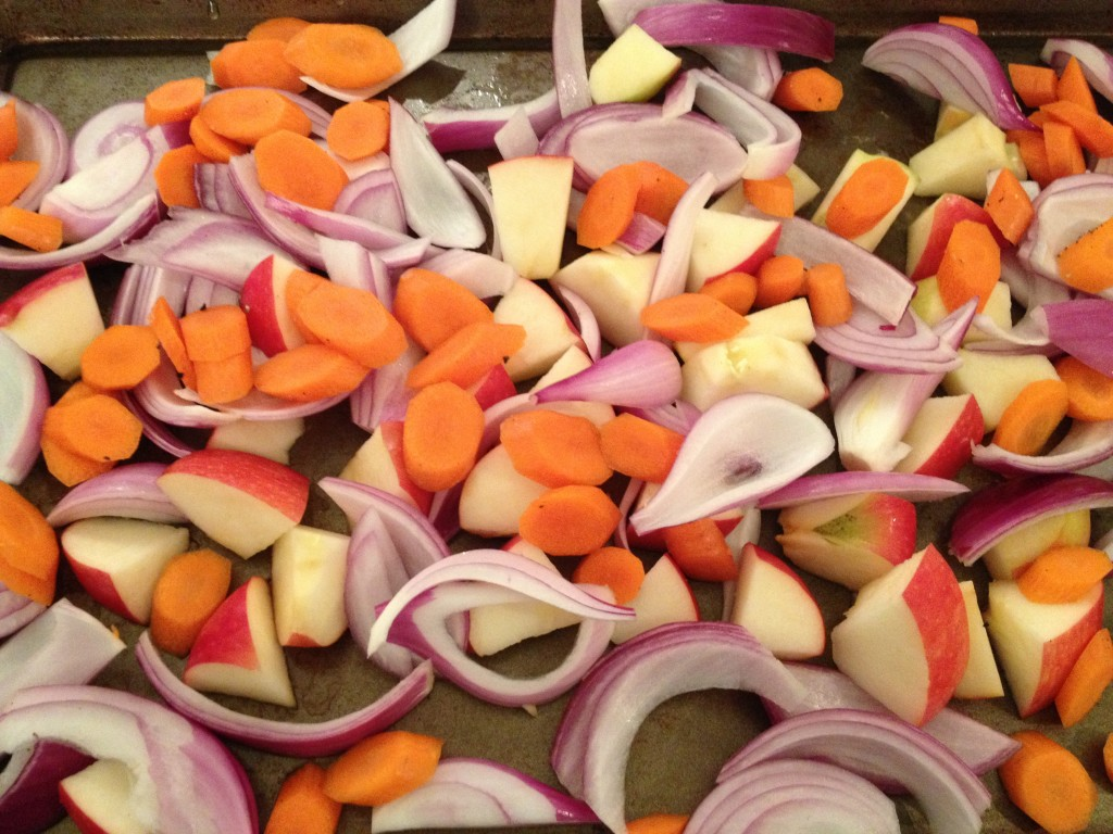 Spiced Apples, Carrots and Red Onions with Lemon and Parsley Quinoa Recipe