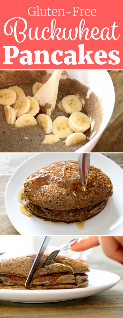 You would NEVER know that these Buckwheat Pancakes are gluten-free! They're fluffy and SO delicious! // www.littlechefbigappetite.com