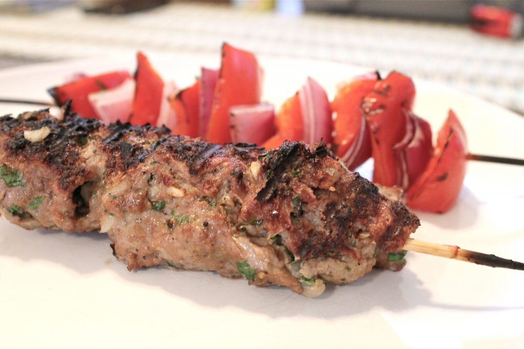 Grilled Ground Beef Kebabs Recipe - Little Chef Big Appetite
