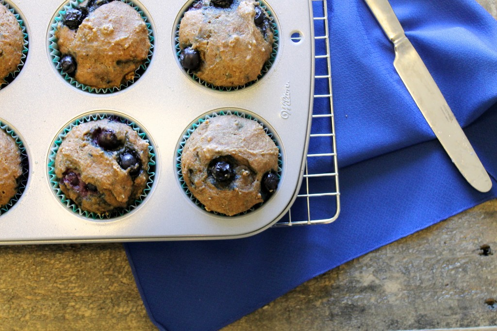 Whole Wheat Blueberry and Lemon Muffins Recipe