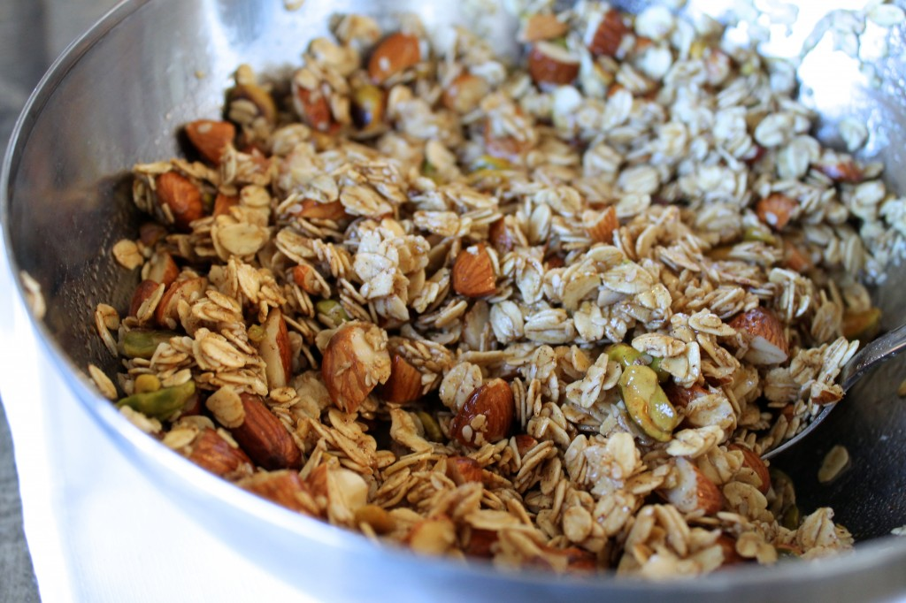 Cardamom Granola with Almonds, Pistachios, and Raisins Recipe