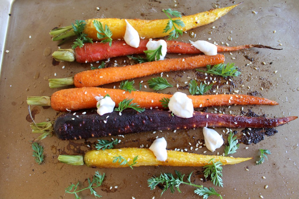 Roasted Carrots with Spiced Greek Yogurt Recipe
