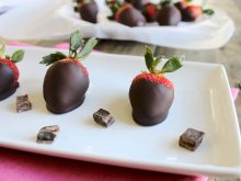 Learn how to make perfect Dark Chocolate Covered Strawberries. They couldn't be easier, but they'll impress that special person in your life! Just two ingredients, and they're vegan and gluten-free! ll www.littlechefbigappetite.com