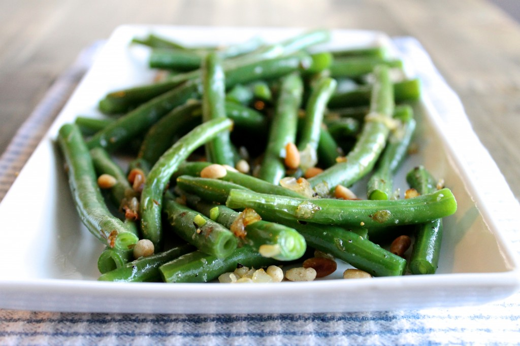 Green Beans with Shallots and Pine Nuts Recipe