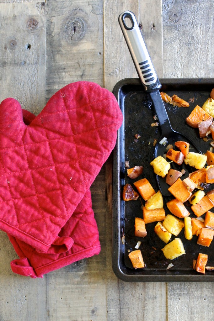Roasted Pineapple and Sweet Potatoes Recipe - Little Chef Big Appetite