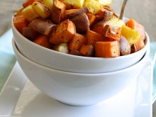 Roasted Sweet Potato and Pineapple