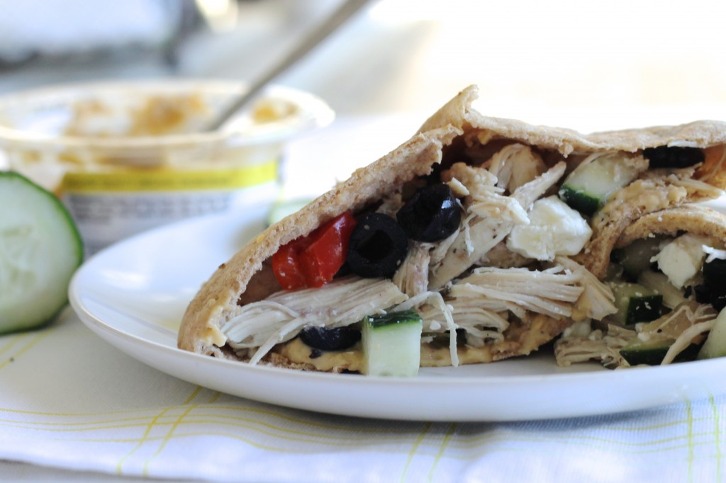 Mediterranean Chicken Pita Sandwiches Recipe