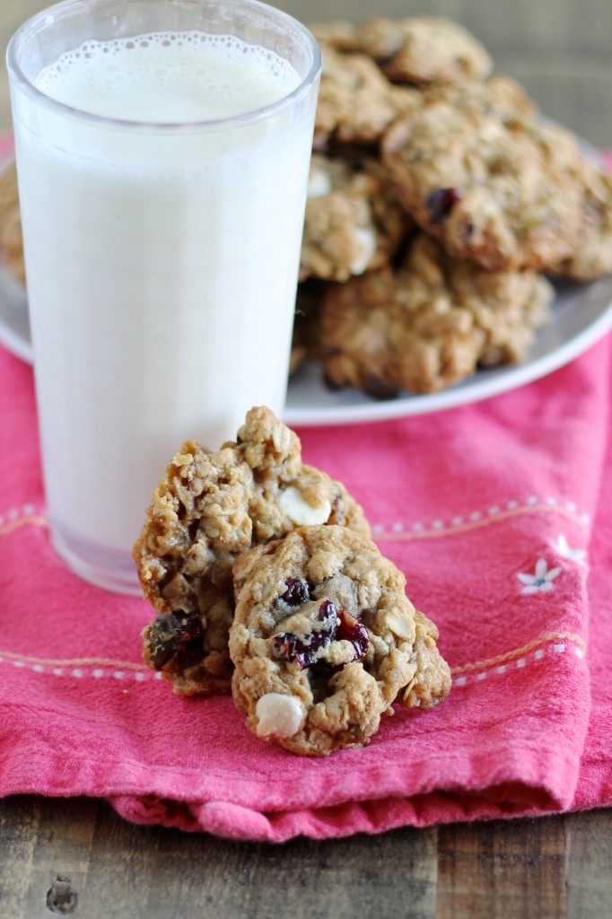 Oatmeal Cookies with Cranberries, Pistachios, and White Chocolate Recipe - Little Chef Big Appetite