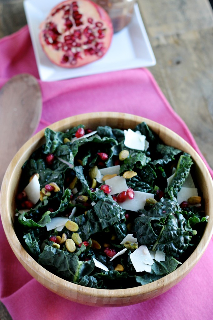 Kale Salad with Pomegranate Molasses Dressing Recipe