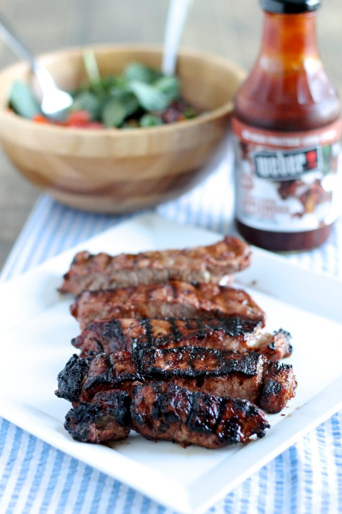 Steak Tips with Applewood Brown Sugar BBQ Sauce Recipe