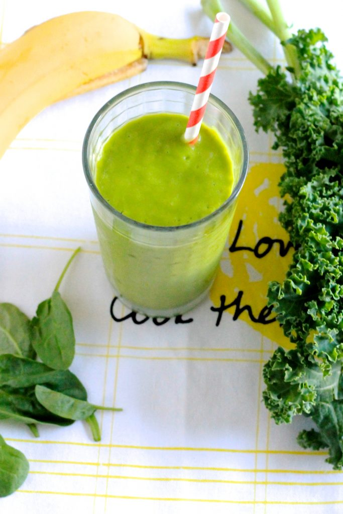 Vitamin-Packed Green Smoothie Recipe l www.littlechefbigappetite.com