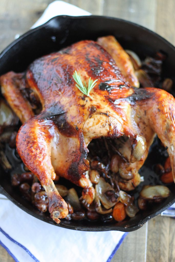 Perfect Roast Chicken with Grapes & Red Wine Gravy Recipe