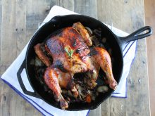 Perfect Roast Chicken with Grapes and Red Wine Pan Gravy ll www.littlechefbigappetite.com