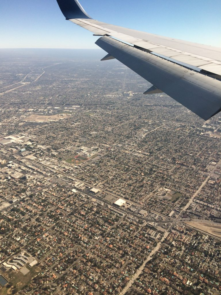 Landing in Los Angeles