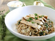 Grilled Rosemary Chicken and Farro Risotto Recipe