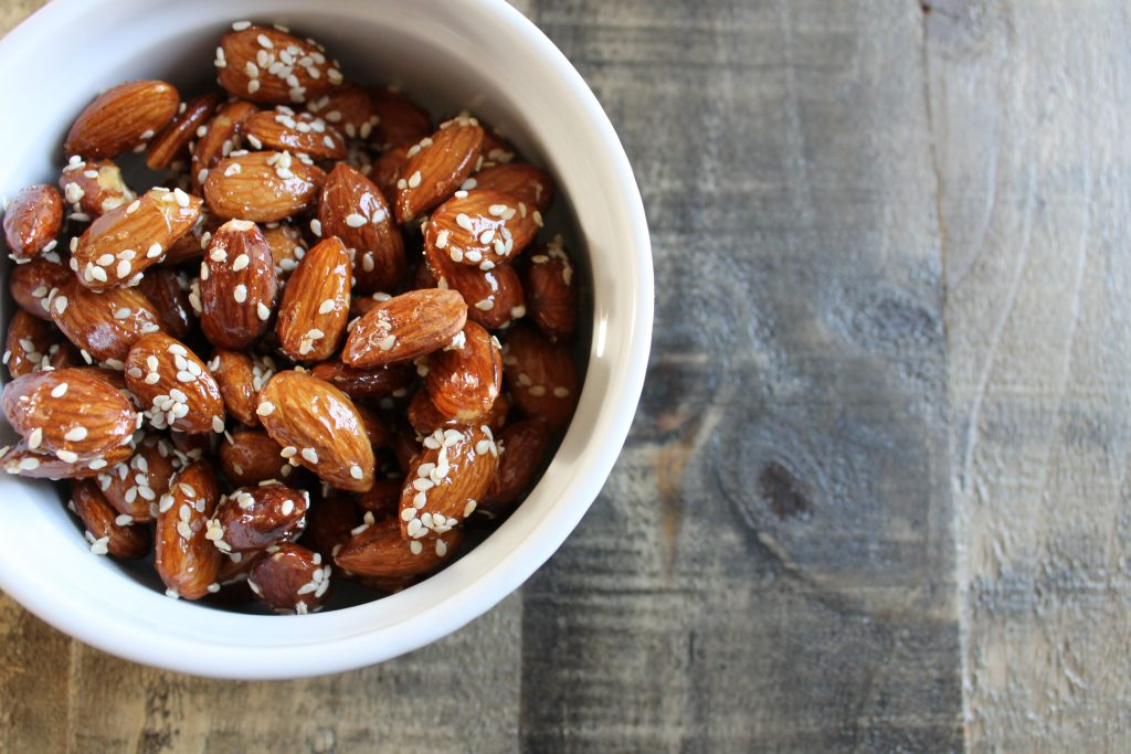 Honey Sesame Almonds Recipe - www.littlechefbigappetite.com