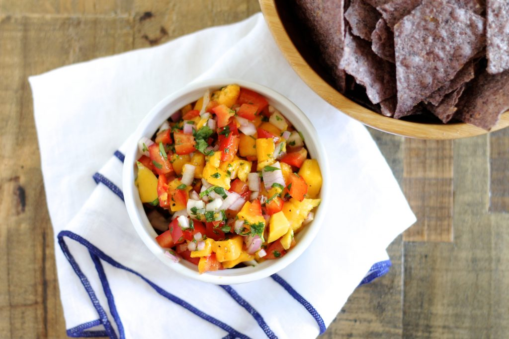The Best Spicy Mango Salsa -- Perfect for Summer BBQs! l Vegan + Gluten-Free l www.littlechefbigappetite.com