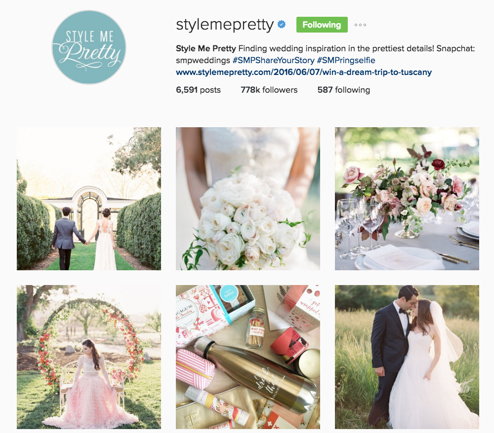 Style Me Pretty Instagram Account