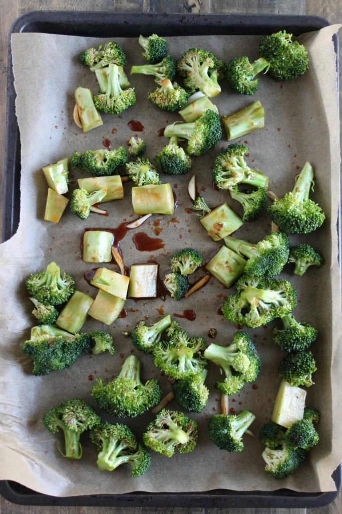 Sriracha Roasted Broccoli Recipe ll Vegan + Low-Sugar ll www.littlechefbigappetite.com