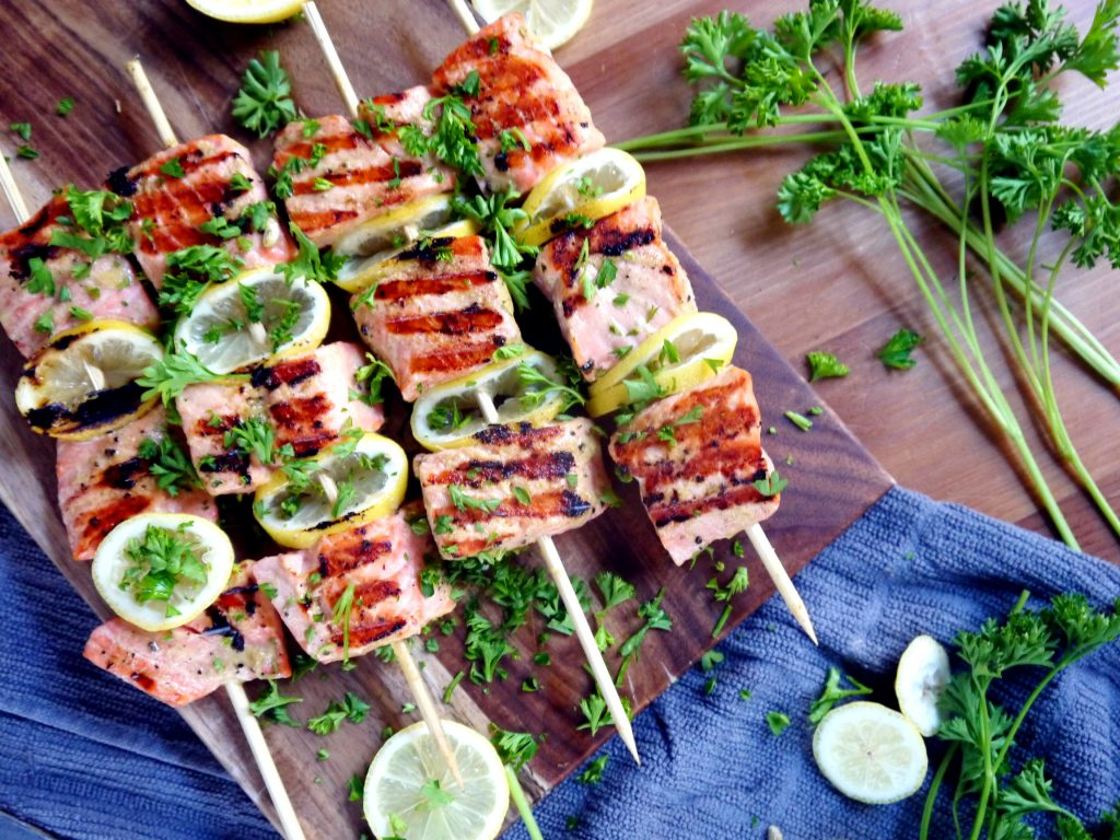 Grilled Dijon Salmon Skewers from Dani at Dani California Cooks