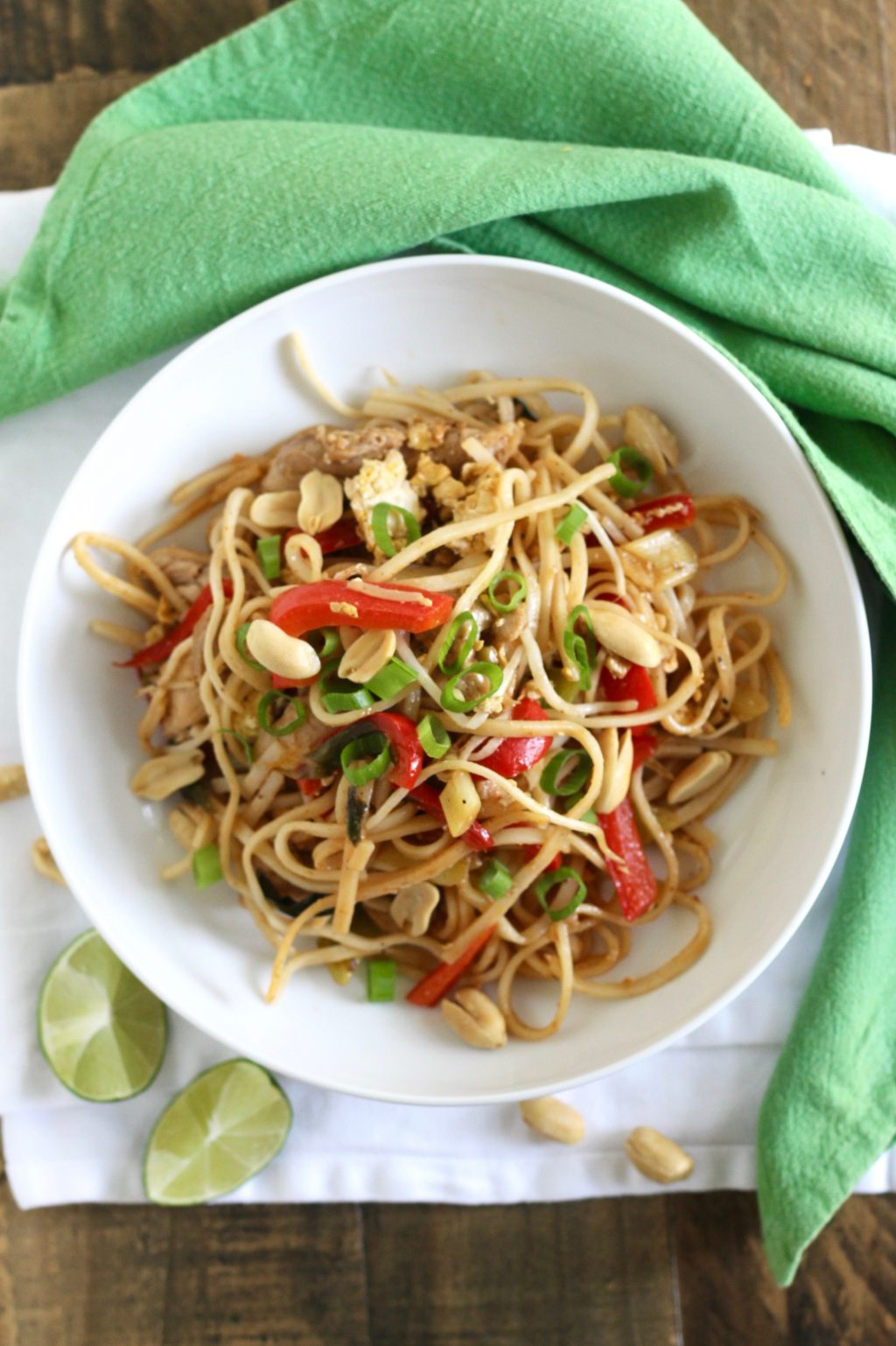 healthy pad thai with chicken recipe little chef big appetite. Black Bedroom Furniture Sets. Home Design Ideas