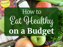 How to Eat Healthy on a Budget Graphic with Text