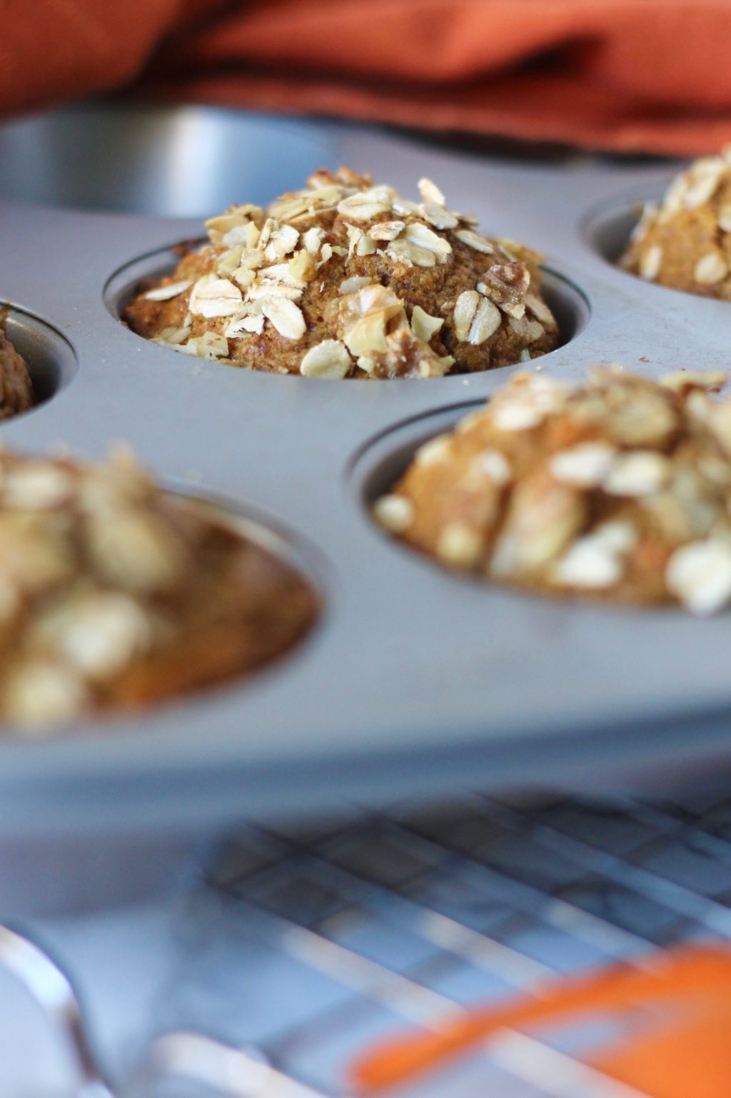 Whole Wheat Carrots Muffins with Walnuts // www.littlechefbigappetite.com