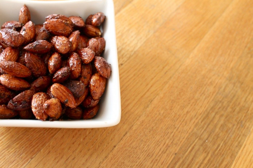 Spiced Roasted Almonds Recipe l www.littlechefbigappetite.com