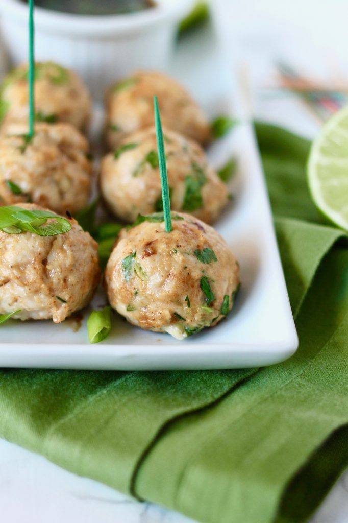 Asian Turkey Meatballs with Sesame Soy Dipping Sauce // www.littlechefbigappetite.com