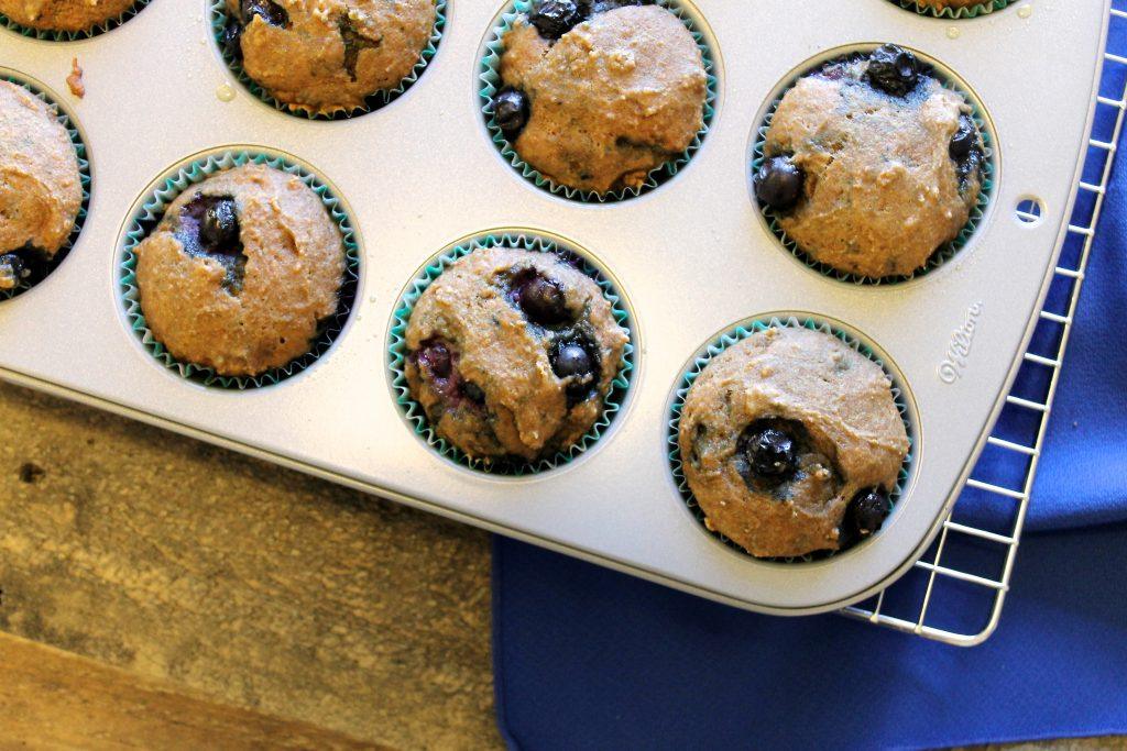 Whole Wheat Blueberry Lemon Muffins | www.littlechefbigappetite.com