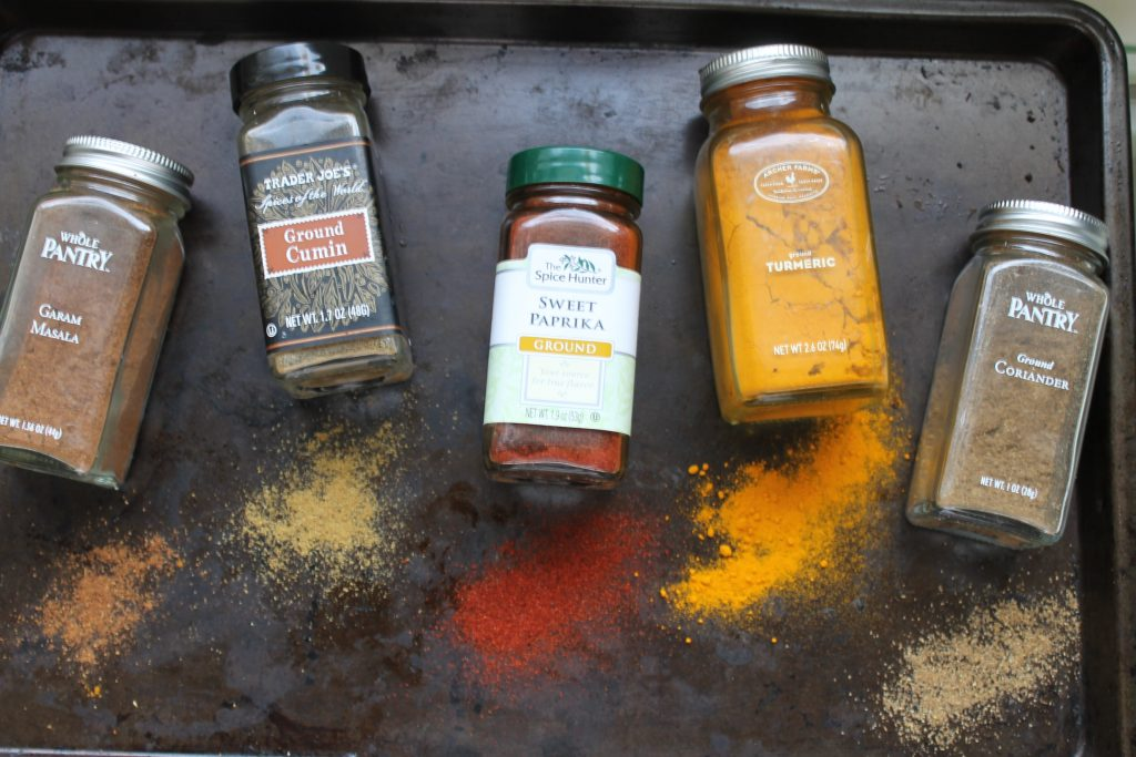 Spices on a Baking Sheet | www.littlechefbigappetite.com