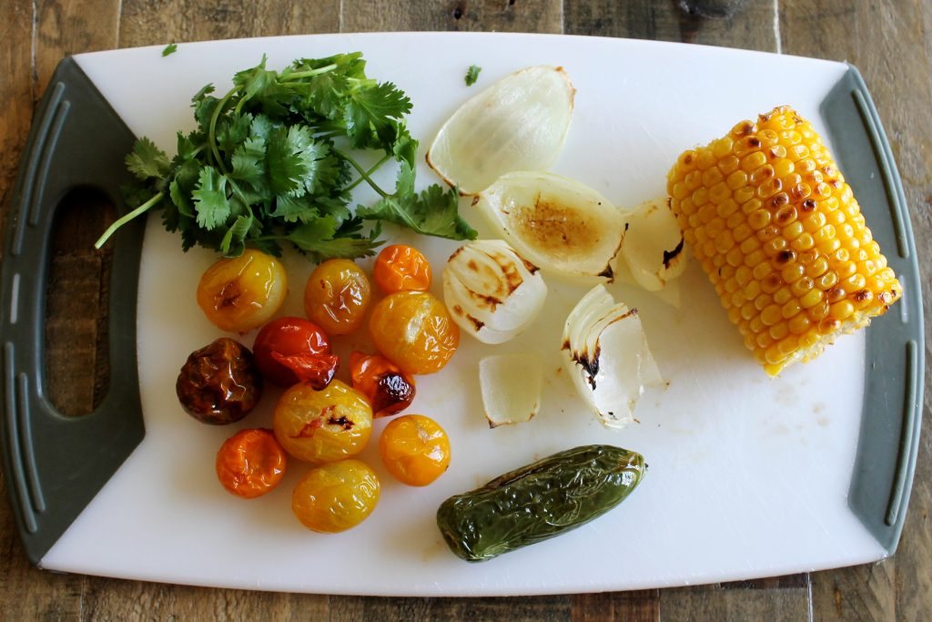 Charred Corn and Heirloom Tomato Salsa Recipe | www.littlechefbigappetite.com 1