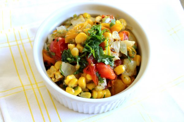 Charred Corn and Heirloom Tomato Salsa