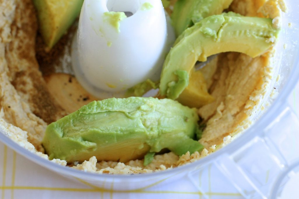 Avocado Hummus in a Food Processor | www.littlechefbigappetite.com
