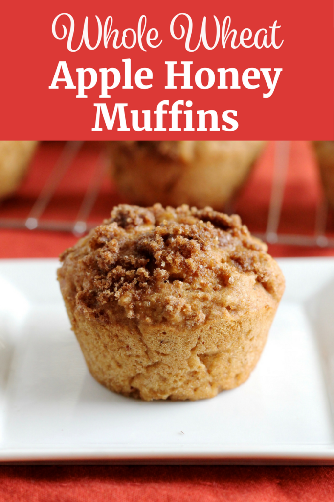 Whole Wheat Apple Honey Muffins | www.littlechefbigappetite.com Pinterest
