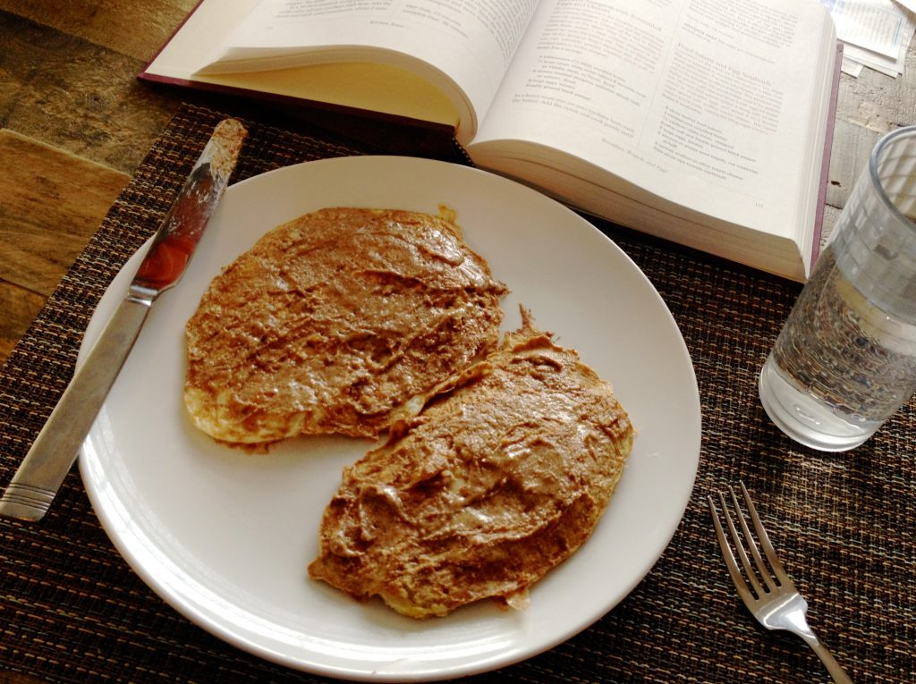 Protein Pancakes and reading | www.LittleChefBigAppetite.com