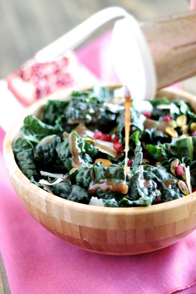 Kale Salad with Pomegranate Molasses Dressing | www.littlechefbigappetite.com 2