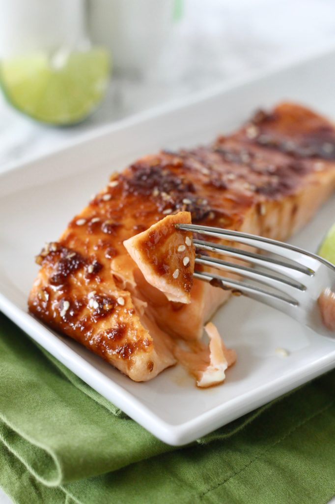 Easy, Healthy Asian Glazed Salmon Recipe | www.littlechefbigappetite.com 4
