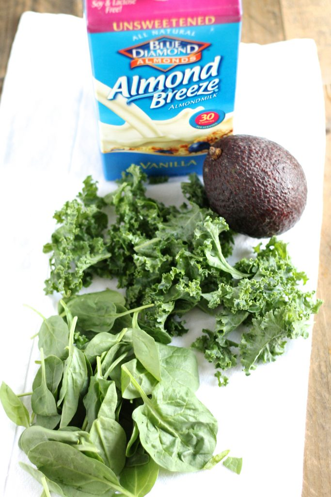 Vitamin-Packed Green Smoothie Recipe Ingredients with Almond Breeze l www.littlechefbigappetite.com