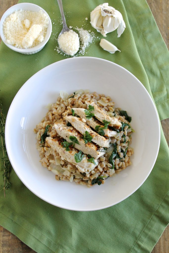 Grilled Rosemary Chicken with Farro Risotto | www.littlechefbigappetite.com