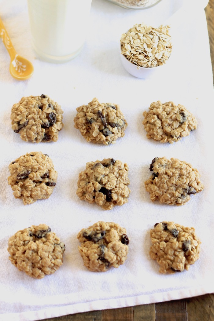 Chewy, Delicious Whole Wheat Oatmeal Raisin Cookies
