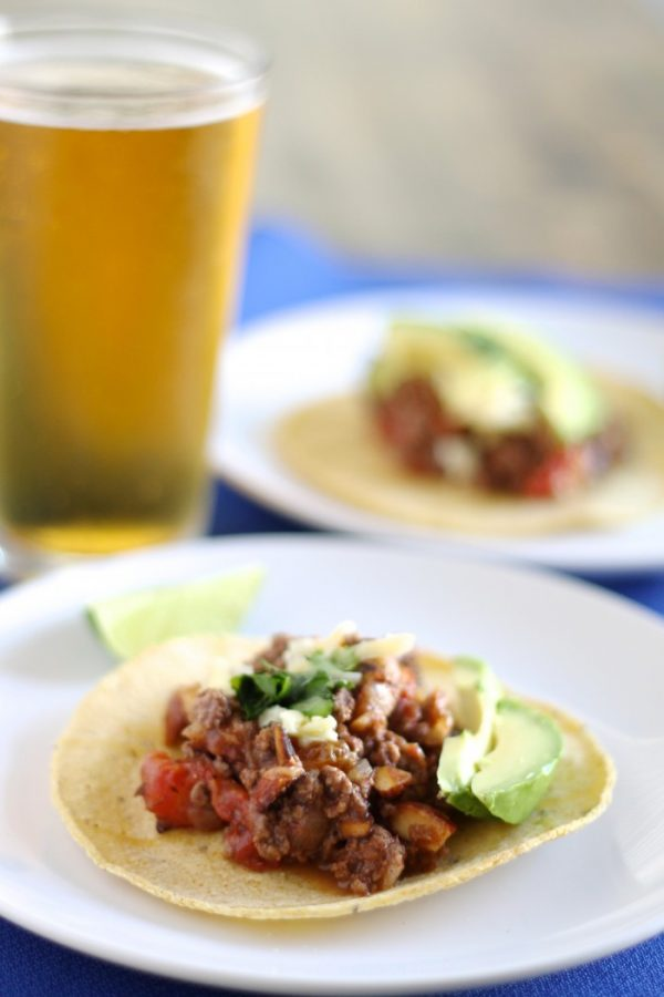Picadillo Tacos with Ground Beef and Almonds
