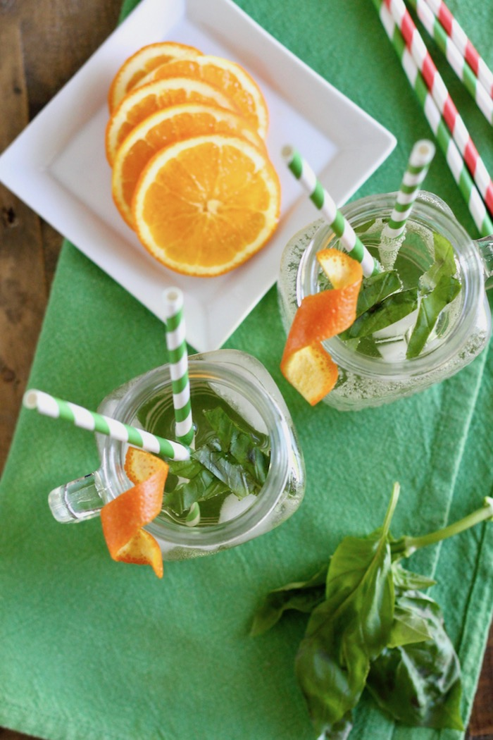White Wine Spritzer with Basil and Orange | www.littlechefbigappetite.com 1