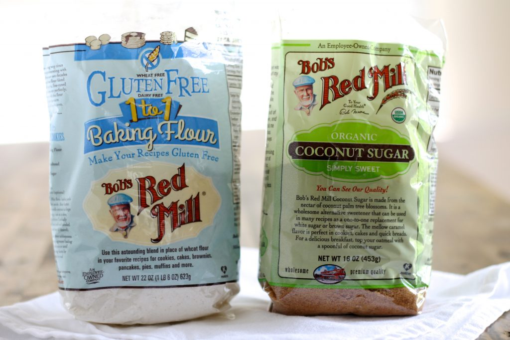 Bob's Red Mill Gluten-Free 1 to 1 Baking Flour and Coconut Sugar | www.littlechefbigappetite.com