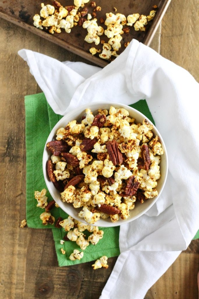 Spiced Popcorn with Pecans Recipe | www.littlechefbigappetite.com 2