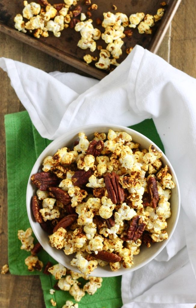 Spiced Popcorn with Pecans Recipe | www.littlechefbigappetite.com 3
