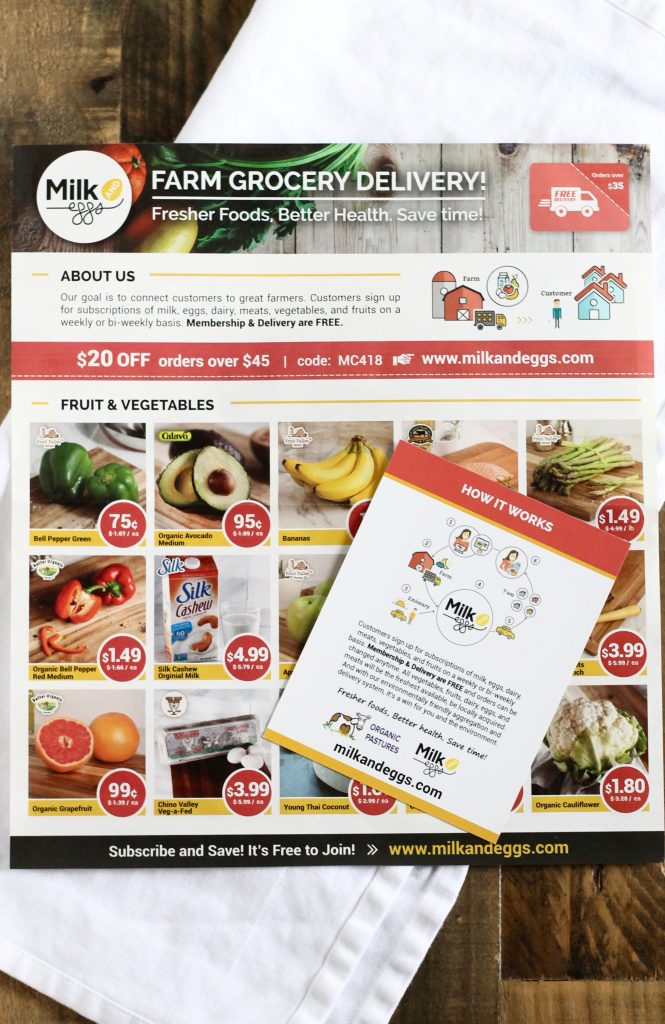 Review of Milk & Eggs Farm Fresh Delivery Service + A Giveaway! ll www.littlechefbigappetite.com