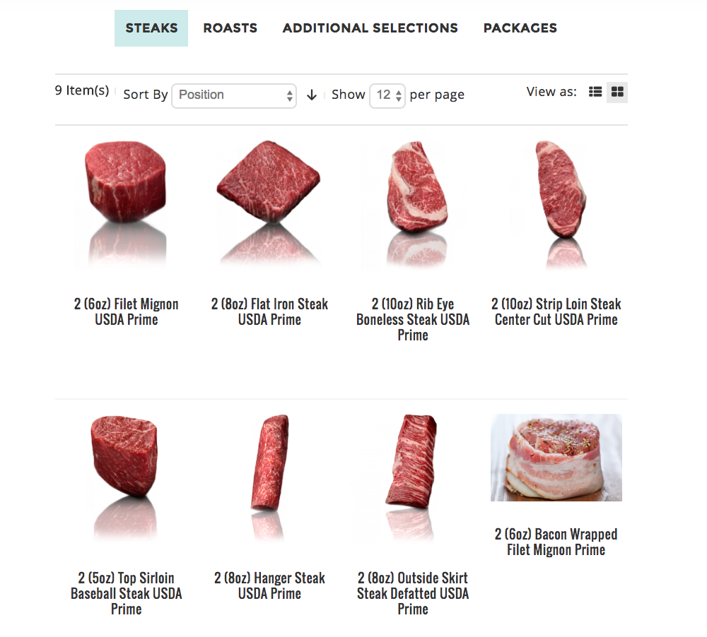 Meat the Butcher Website Steak Selections | www.littlechefbigappetite.com